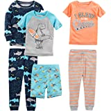 Simple Joys by Carter's 6-Piece Snug Fit Cotton Pajama Set Bebé-Niños, Pack de 6