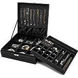 ProCase Boîte à Bijoux Coffret à Bijoux pour Femmes, 2 Niveaux, Coffrets/Boîte à Maquillage pour Boucles d'oreilles, Bracelet