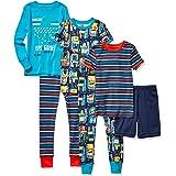 Spotted Zebra Pijama de algodón de Ajuste ceñido Niños, Pack de 6