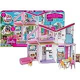 Barbie- La Nuova Casa di Malibu, Playset Richiudibile su Due Piani con Accessori, 61 cm, Giocattolo per Bambini 3+ Anni, FXG5