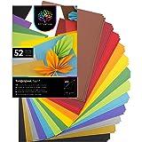 OfficeTree 52 Feuilles de papier dans des tons colorés - enfants Papier DIN A3 pour bricoler et construire - 130 g/m² - 10 co