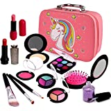 Sendida Pretend Makeup Toys for Girls - Kids Play Makeup Kit Fake Cosmetics Gift for 3, 4, 5, 6 Years Little Girls Toddlers D