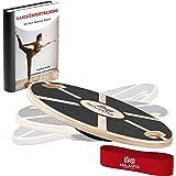 NAJATO Sports Balance Board – Wackelbrett mit rutschfestem gummiertem Standfuß – Gleichgewichtstrainer mit Handgriffen für me