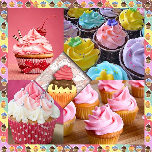 Kuchen-Foto-Collage