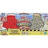Hasbro Play-Doh- Wheels Pots de pâte Construction, modèles Assortis, E4508EU4, Multicolore