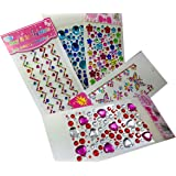 Truvic Stone Crystal Multi Shaped Shining Stone Scrap Book, Greeting Cards Sticker 8.66 x 3.93 x 0.19 Inches, Multicolour