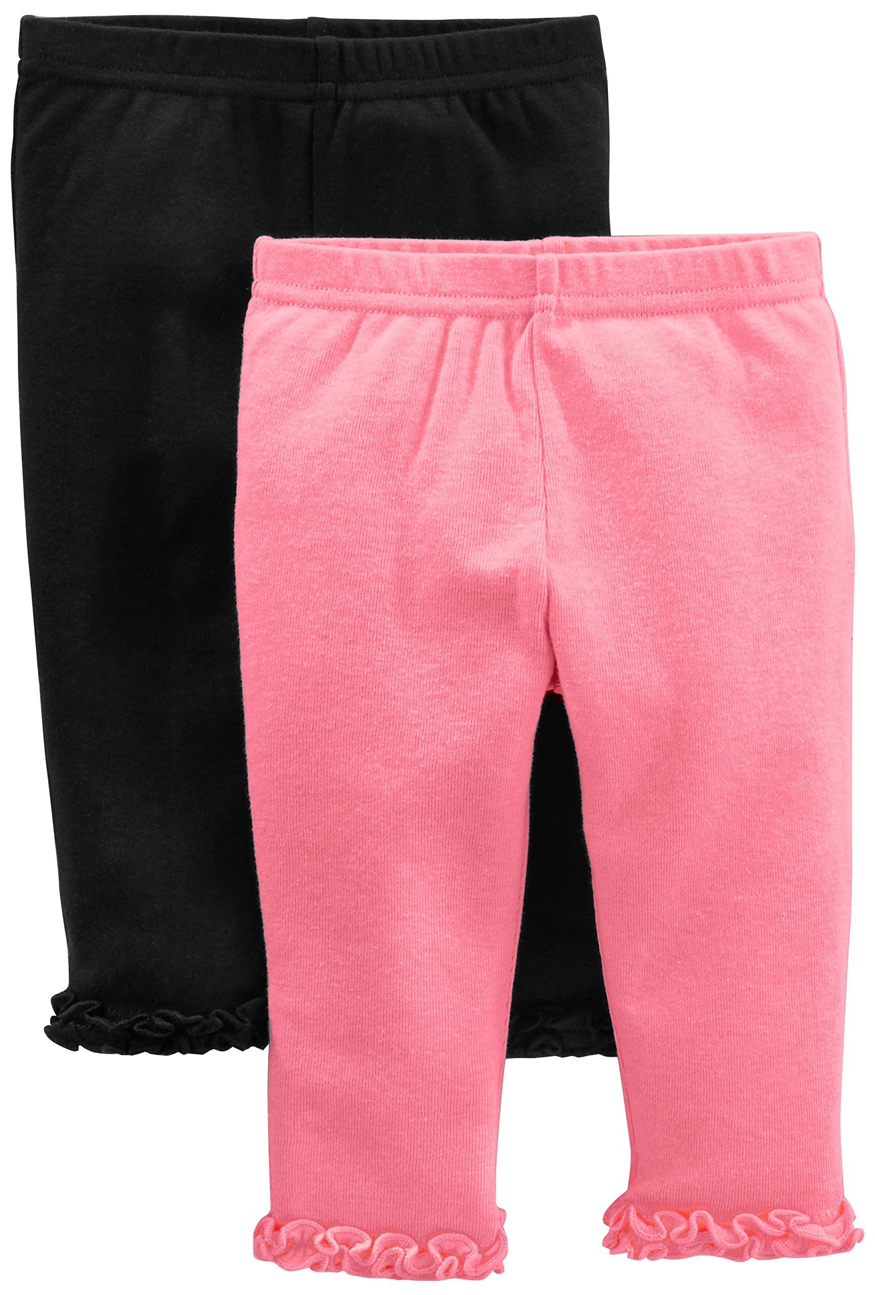 Simple Joys by Carter's pantalón para niñas pequeñas, paquete de 4 2