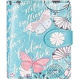 Shagwear Junge Damen Geldbörse Small Purse und Designs (Vintage Butterfly/Vintage Schmetterling Teal)