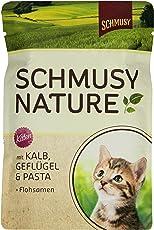 Schmusy Katzenfutter Natures Menü für Kitten mit Kalb 100 g, 24er Pack (24 x 100 g)