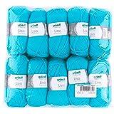 Gründl Lisa Premium Pack de 10 Balles, Acrylique, Turquoise, 34 x 31 x 8 cm