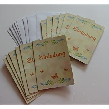 Geburtstag   Jubiläum   Hochzeit Feiern Und Dazu Einladen. Selbst Gestalten  Mit 12 X Karten Zur Einladung Uni, Natur, Creme, ...