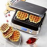 Domo DO9219W waffle iron 2 waffle(s) Stainless steel 1600 W - Domo DO9219W, 360 mm, 172 mm, 350 mm, 1600 W