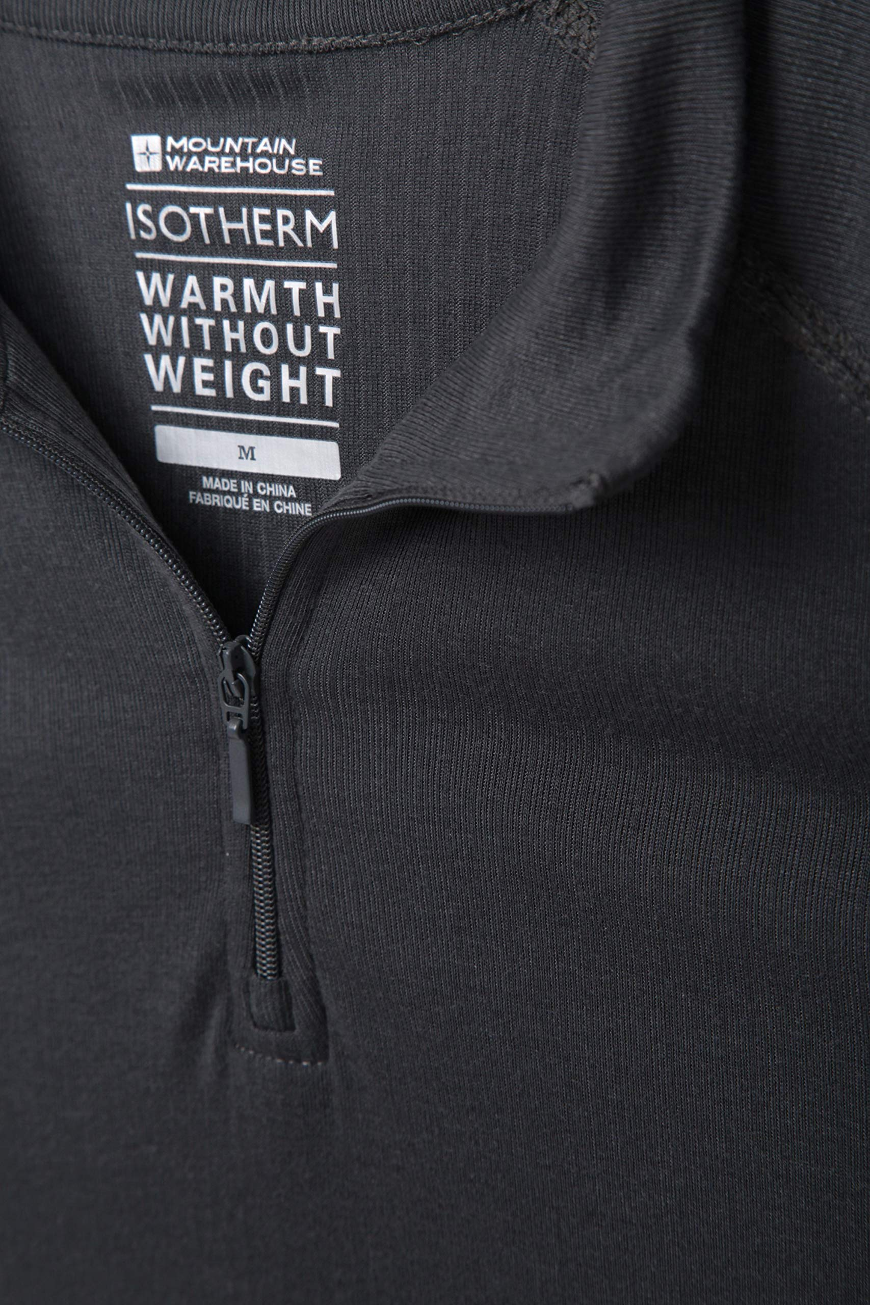 Mountain Warehouse Talus Mens Thermal Baselayer Top - Long Sleeve Sweater, Zip Neck, Quick Drying Pullover, Breathable, Lightweight - Great for Winter, Travelling 5