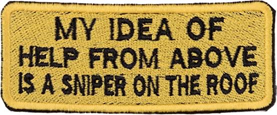 Biker Patches Embroidered Sew On (9.5 cm x 4 cm x 1 cm, Yellow & Black)