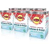 Lipton Infuse à Froid Grenade Hibiscus, Eau froide infusée, Boisson d'été rafraichissante, Eau aromatisée healthy, 90 sachets