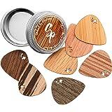 Stickpick   set avec 7 médiators de guitare flexibles en bois véritable précieux   fabriqué de manière durable   Made in Germ