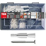 TOX 1190101 assortimentskoffer Plug and Play, 320-delig met universele pluggen Trika 5x31 mm, 6x36 mm, 8x51 mm + perfect afge