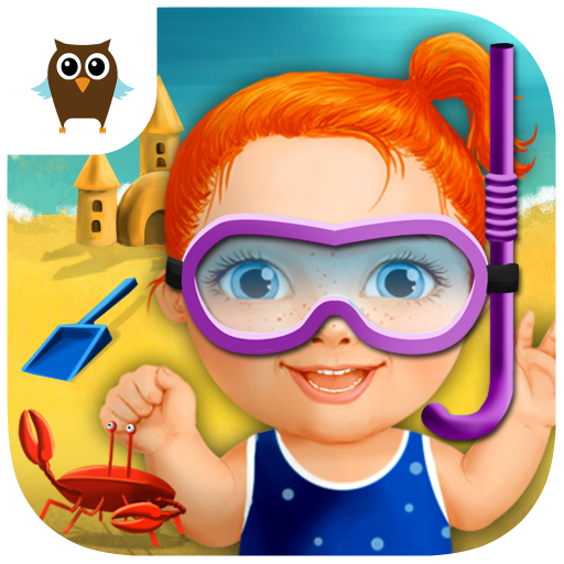 Sweet Baby Girl Beach Picnic - Kids Grill Burger Party, Dress Up and Decoration Game
