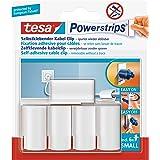 tesa Powerstrips® Kabelclips - zelfklevend, gebruiksvriendelijk, verwijderbaar en herbruikbaar