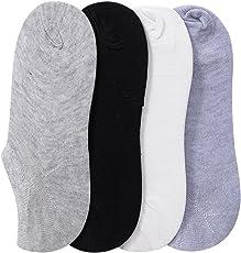 Krystle Women's Cotton Loafers/Ankle Length Socks (KRY-MULTI-WOM-LOAFER-PO4, Multicoloured, Free Size)