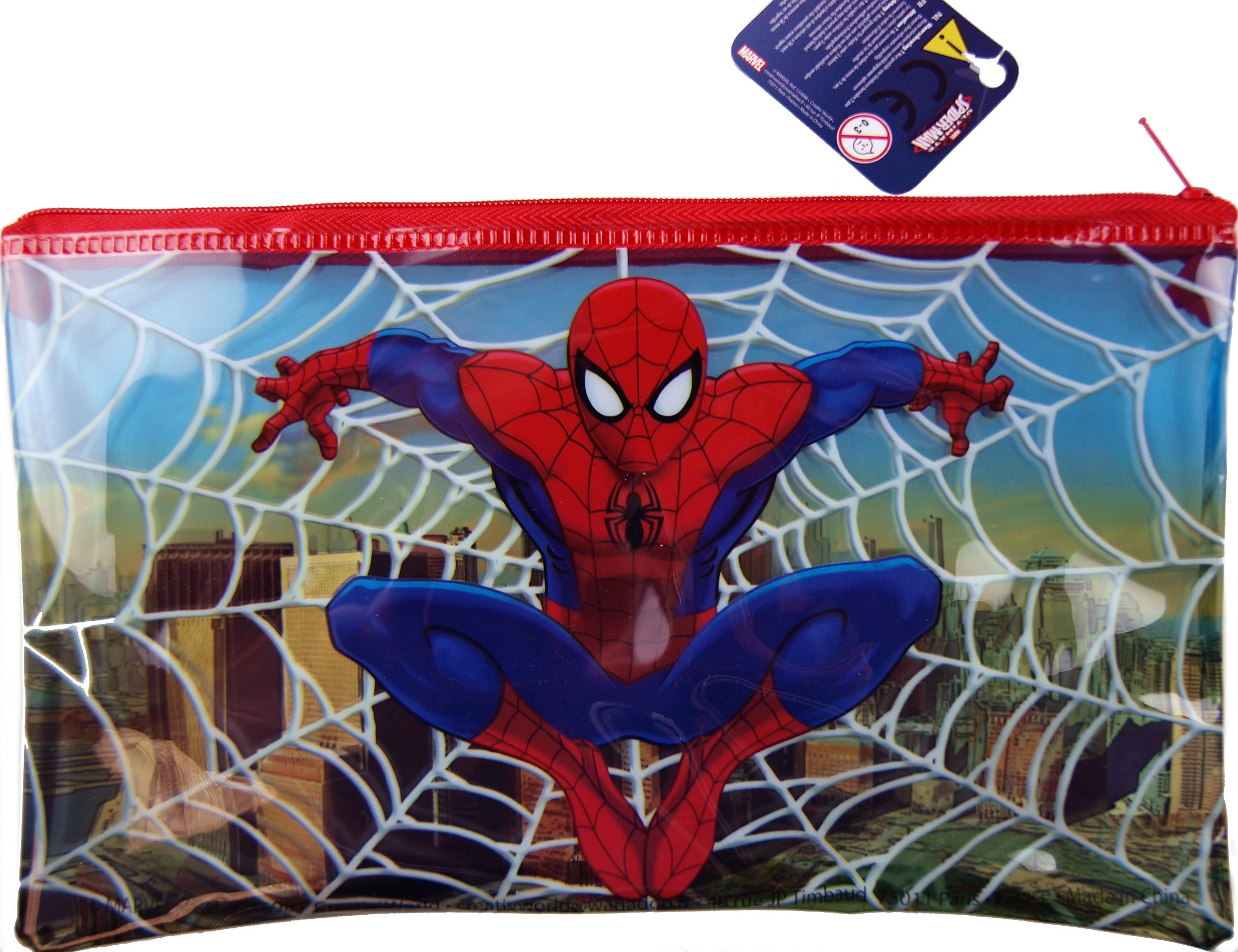 Spiderman–Plumier escolar, transparente diseño de Web