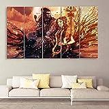 CasperMe Multiple Frames Shiv Parvati Wall Painting for Living Room, Bedroom, Hotels & Office Sparkle Matt Finish 7mm…