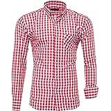 Kayhan Camisas Hombres Camisa Hombre Manga Larga Ropa Camisas de Vestir Slim fácil de Hierro Fit S M L XL XXL-6XL - Modello C