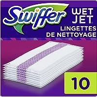 Swiffer Wetjet Balai Spray, Recharge Chiffons de Nettoyage, 4 x 10 Lingettes, Lingette Retient la Poussière et la Saleté