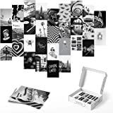 Haus and Hues Black and White Wall Decor Photo Collage Kit - Aesthetic Wall Collage Kit | Photo Collage Kit For Wall Aestheti