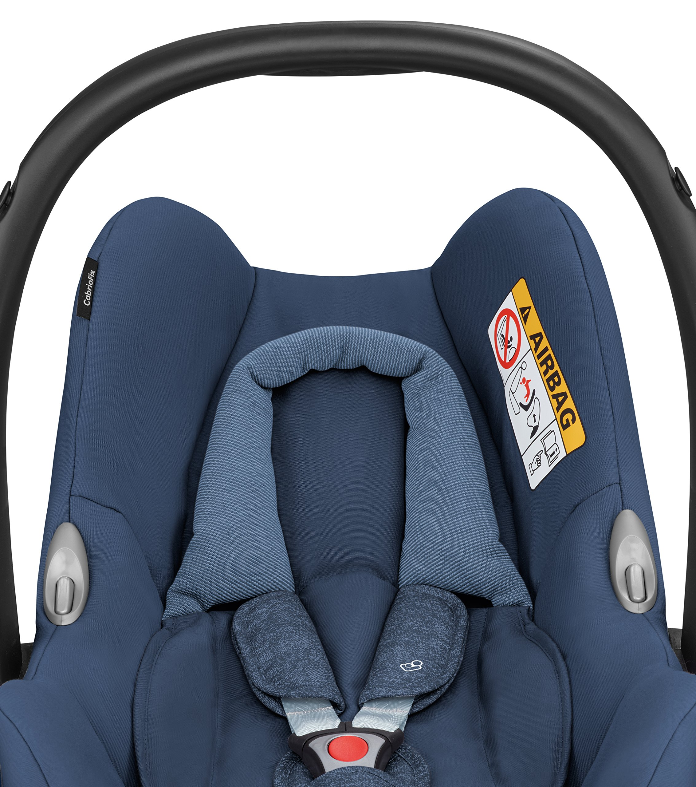 Maxi-Cosi Cabriofix Group 0+ Car Seat, Nomad Blue with EasyFix Car Seat Base, Isofix and Belt Maxi-Cosi Optimal side impact protection: maxi-cost's side protection system technology features in the wings of the car seat to reduce the risk of injury in a side impact collision Click-and-go installation: quick and easy installation with any maxi-cost base unit Flexible travel system: compatible with a variety of pushchairs including quinsy and maxi-cost pushchairs 4