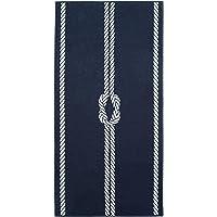 ZOLLNER XXL Strandtuch Baumwolle, 100x200 cm, Marine-weiß (weitere verfügbar)