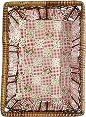Shubh Wedding Square Shape Traditional Wooden Basket for Anniversary, Birthdays, Wedding Gifts, Baby Shower, Side Table Basket, Fruit Basket, Dry Fruit Basket - Multicolor (ShubhW_117)