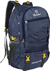 HOT SHOT Lightweight Navy Blue 50L Polyester Travel Hiking Rucksack Bag