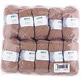 Gründl Lisa Premium Pack de 10 Balles, Acrylique, Marrone, 34 x 31 x 8 cm