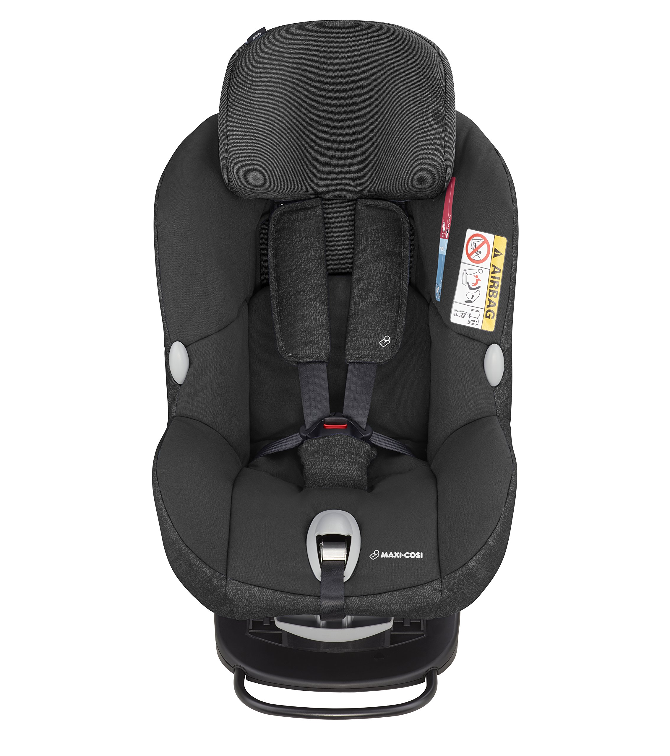 Maxi-Cosi MiloFix ISOFIX Combination Car Seat, Group 0+/1 car seat, Rear and Forward-facing, 0-4 years, 0-18 kg, Nomad Black Maxi-Cosi Rear and forward facing group 0+/1 car seat, suitable from birth to 18 kg (birth to 4 years) i-Size car seat, extended rearward-facing travel up until 18 months Padded seat and angled base provide additional leg room in rear-facing position 5