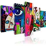 B&D XXL murando Impression sur Toile intissee 200x100 cm cm 5 Parties Tableau Tableaux Decoration Murale Photo Image Artistiq