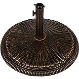 Maxstore Sonnenschirmständer Gusseisen bronze, 20 kg