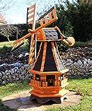 Dekorative Windmühle mit Solar schwarz Typ 17