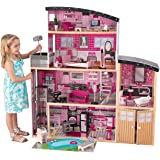 KidKraft 65826 Casa legno Sparkle Mansion per bambole di 30 cm con 30 accessori inclusi e 4 livelli di gioco, Colore rosa