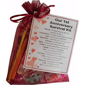 Smile Gifts Uk 1st Anniversary Survival Kit Gift Great Novelty