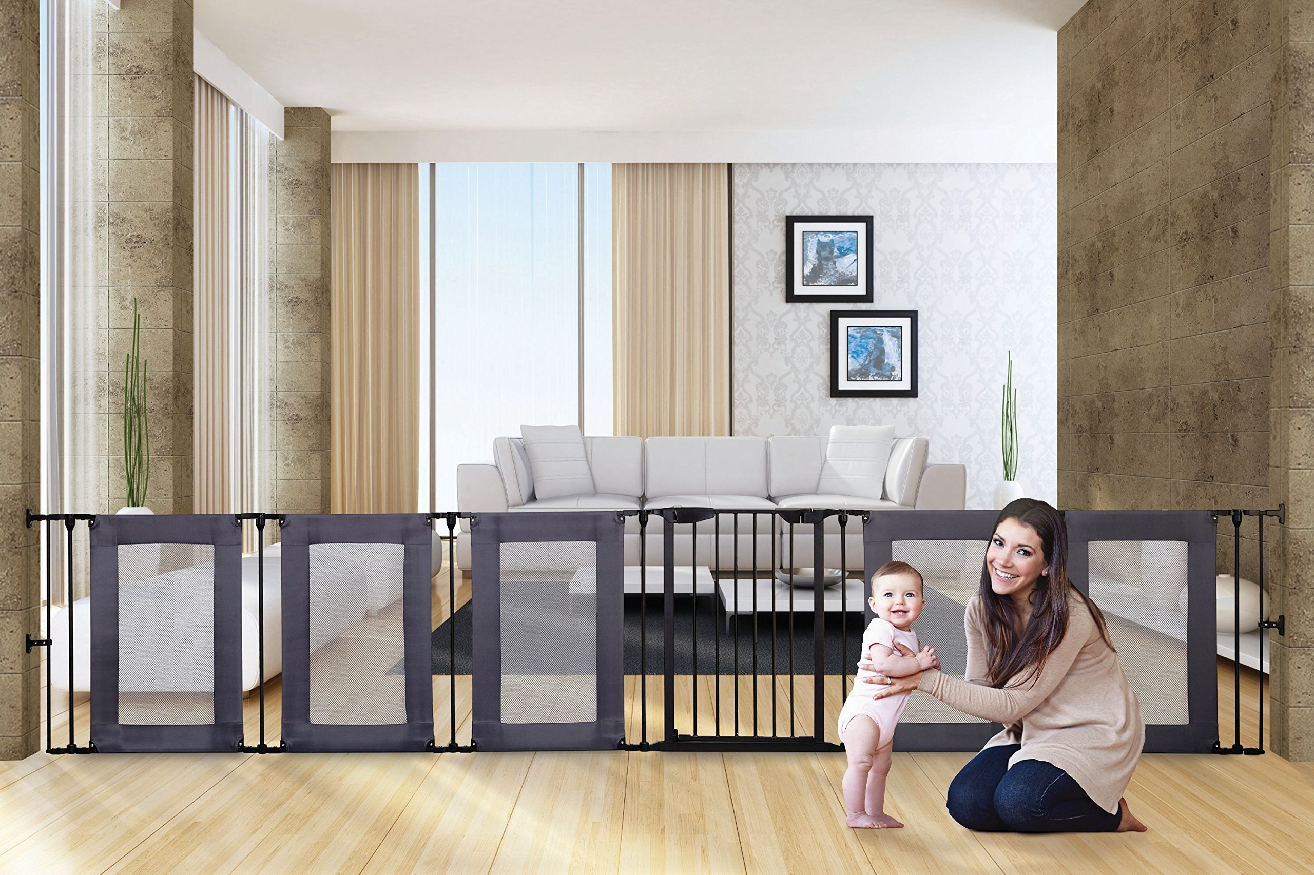 Dreambaby Brooklyn 3-in-1 Converta Dreambaby 6 modular panels including covenient walk-through gate Arrange panels to your specific layout Can be used as either a play-pen or extra-wide barrier gate 5