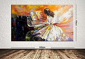 TabloCenter 106224-100140 Dev Boyut Dekoratif Kanvas Tablo, 100x140cm