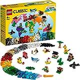 LEGO 11015 Classic Rond de wereld Constructie Speelgoed, Set met 15 Steentjes Dierfiguren, Bouwstenen Voor Kinderen van 4 jaa