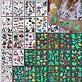Tatuaggi Temporanei per Bambini,326 Luminous Adesivi Tatuaggi Finti,per Ragazzo Ragazza Adulti Festa Compleanno Giochi Decora