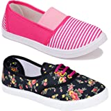 Shoefly Women Multicolour Latest Collection Loafers Shoes-Pack of 2 (Combo-(2)-611-11023)