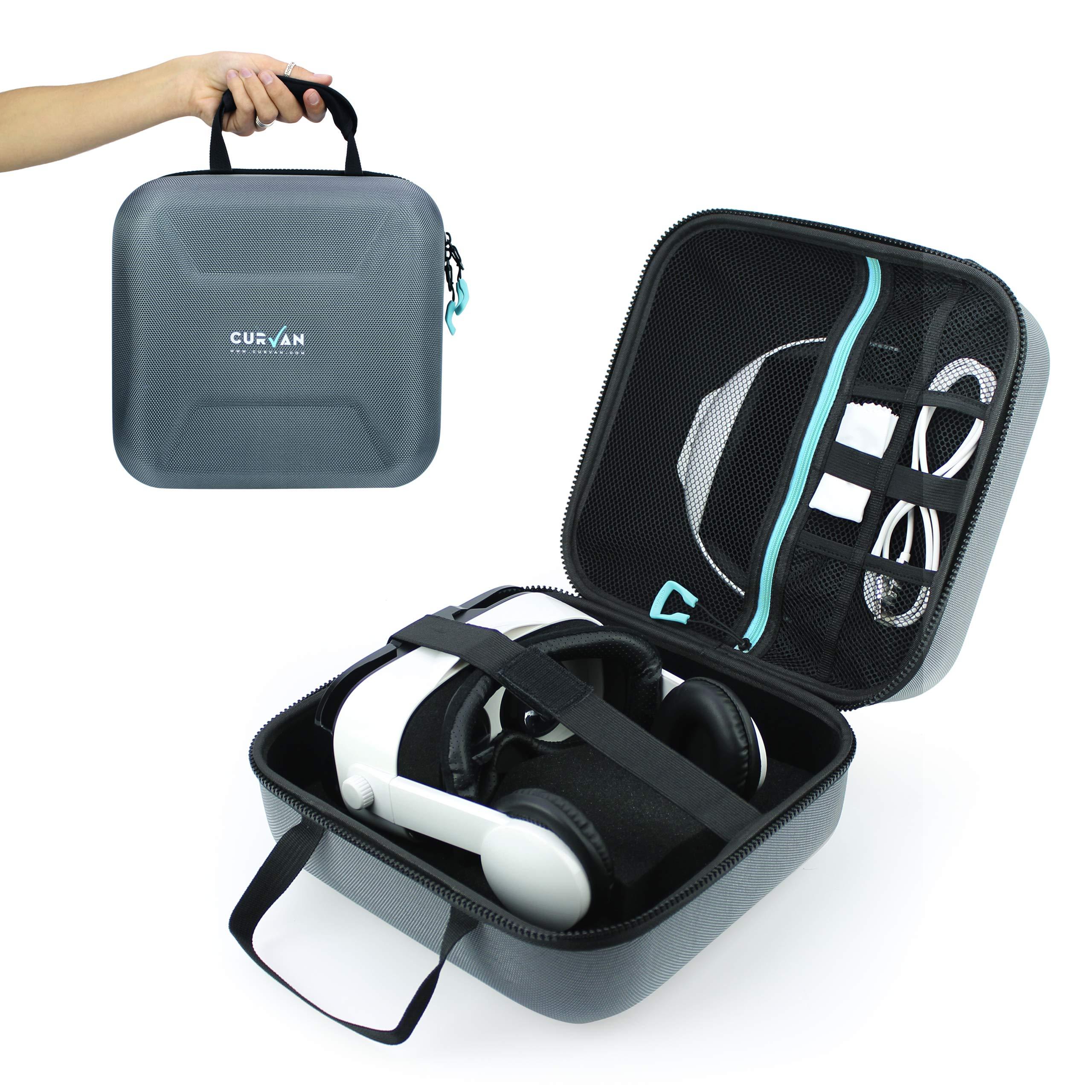 CURVAN VR – Sac de Rangement de Qualité Supérieure pour Lunettes VR et Accessoires de Réalité Virtuelle 3D | EVA Case Coussin | Protection et Confort Maximum | Résistant, Confortable et Léger 500g