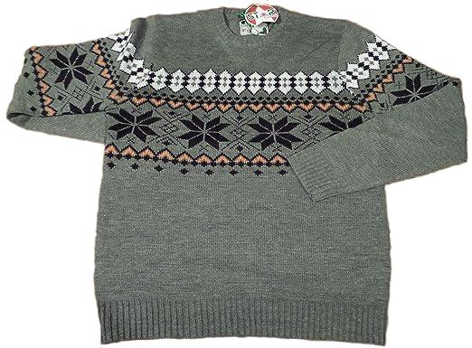Star Christmas Fair Isle Knit Jumper Mens NORMAL RRP £42.99 (M ...