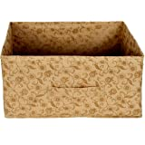 Kuber Industries Metalic Floral Print Non Woven Fabric Replacement Drawer Storage and Cloth Organizer Unit for Closet…