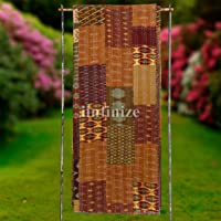iinfinize Indian 90 x 108 Handmade Spectacular Patchwork Kantha Quilt Throw Inspired Brown Color Soft Silk Patola King…
