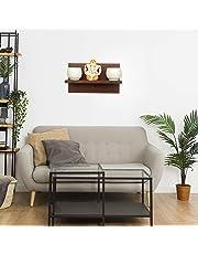 Furniture Cafe MDF Wall Mounted Key Hanger Wall Shelf/Shelves Rack for Home/Office Decor - Matte Finish, Wenge